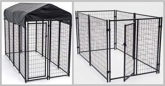 China Enclosed Heavy Duty Dog Kennel Length Powder Coating 10ft Width 5ft Heigh 6ft supplier