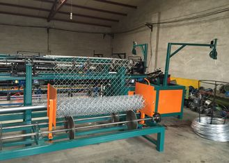 China Industrial PLC System Control Chain Link Machine For Weave Chain Link Fence supplier