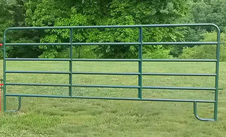 Easily Setup Metal Farm Fence , Pipe Corral Panels For Goats Anti Corrosion