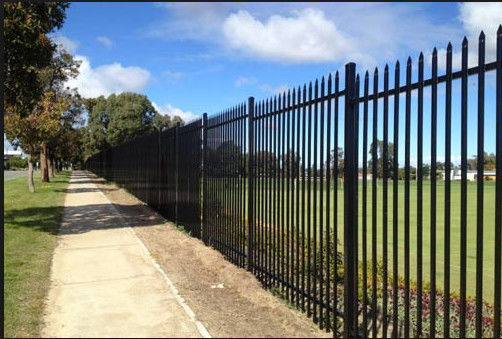 Customized Black Decorative Fence Panels For Highway