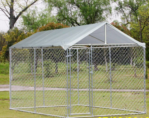 China Chain Link Fence Large Dog Enclosures Outdoor Galvanized Surface Treatment supplier