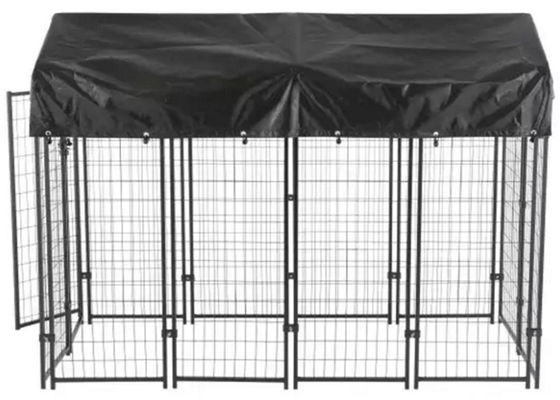 China Durable Dog Run Kennel , Large Outdoor Dog Cage With Waterproof Cover supplier