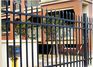 China High Hardness Customized Black Steel Fence With Durable Surface Treatment supplier