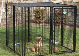 China Portable Large Dog Pens For Outside , Animal Steel Dog Pen No Sharp Edges supplier