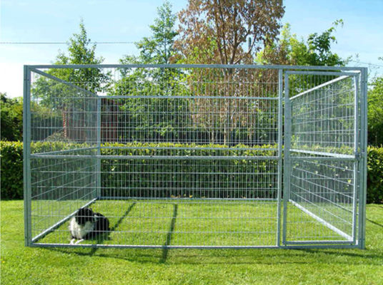 China Zinc Plating Movable Metal Dog Kennel Outside Dog Cages For Large Dogs supplier