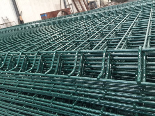 China Green Pvc Welded Wire Steel Mesh / Heavy Gauge Welded Wire Fence Acid Resisting supplier