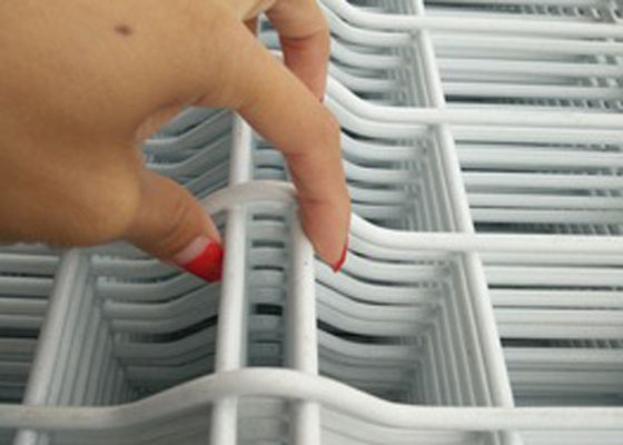 China White Vinyl Coated Welded Wire Fencing / Galvanised Welded Wire Mesh Panels supplier