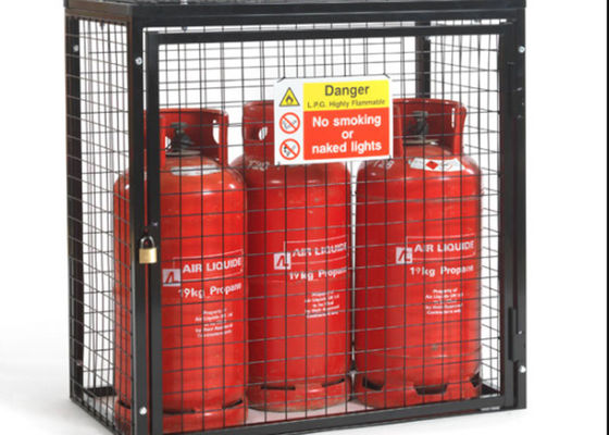 China Small Gas Cylinder Cages Propane Tank Storage Easily Assembled / Dissembled supplier