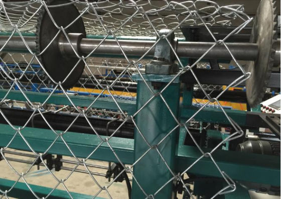 China Low Noise Chain Link Fence Weaving Machine High Working Efficiency Large Capacity supplier