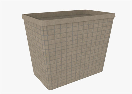 Hot Dipped Security Defensive Barrier Military Sand Wall Square Hole Shape