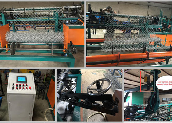 China 1.5-4mm Wire Diameter Chain Link Machine For Steel Wire Weaving Fence supplier