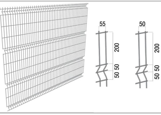 China Hot Galvanized Welded Mesh Fence Welded Steel Fence Triangle Bending supplier
