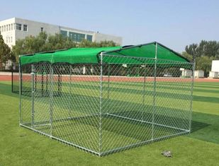 China Sliver Color Large Galvanized Dog Kennel With Top Various Materials 10'*10'*6 supplier