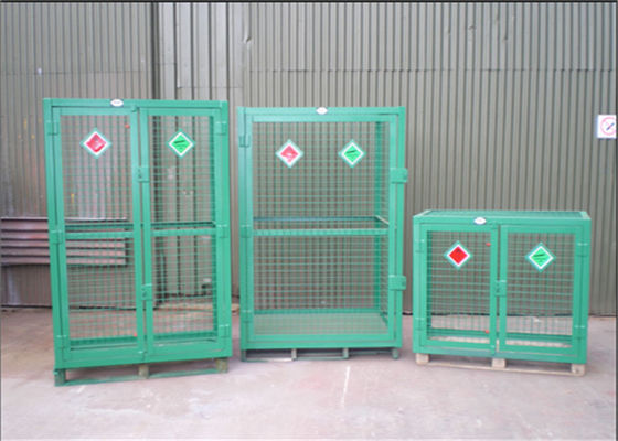 China Welded Galvanized Gas Cylinder Cages With Powder Coated For Industry           supplier