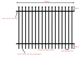 China Colors House Gate Designs And Wrought Iron Fence / Steel Fence supplier