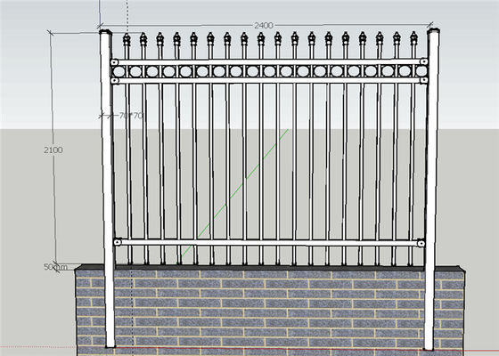 China Ornamental Picket Steel Fence Panel / Black Steel Fence / Ornamental Steel Fence supplier