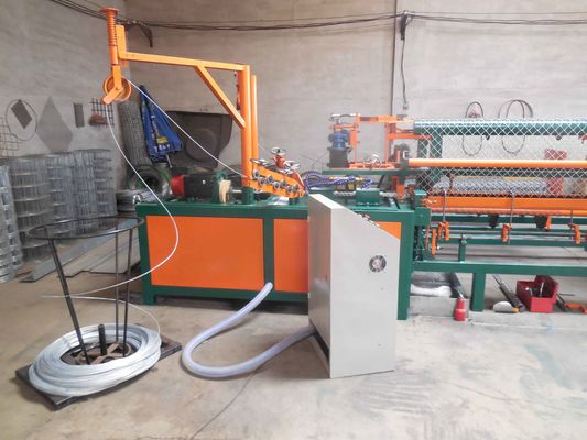 China Cheap Hot sale 2 worms fully Automatic chain link fence machine with compact roll supplier