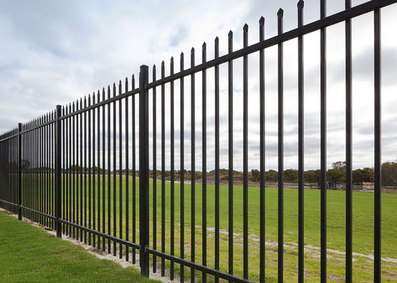 China Black Metal Fence Panels Powder Coated 1.8m -- 2.4m Width For Long Time supplier
