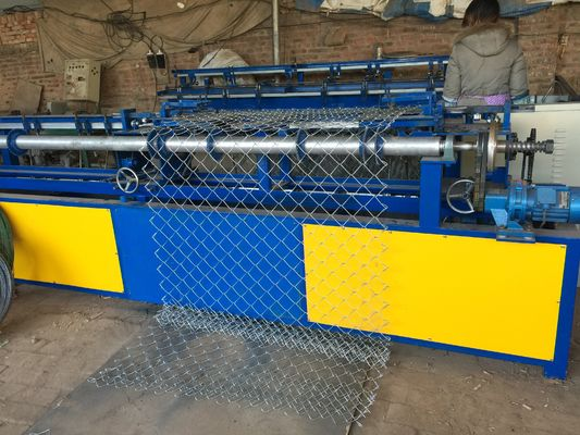 China Fully Automatic Single Wire Chain Link Fence Making Machine Diamond Shape Mesh supplier