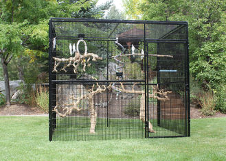 China Customized Large Outdoor Bird Aviary 8' Hexagon Cheek'S 3.2mm Wire Dia supplier