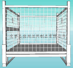 Professional Mesh Storage Cage , Wire Mesh Pallet Cages Hot - Dip Galvanized Finish