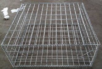 China Silver High Strength Gabion Wire Mesh Anti Corrosion Square Hole Shape supplier