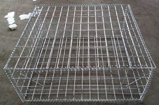 China 2*1*1 M Galvanized Welded Gabion Basket Boxes For Retaining Wall supplier