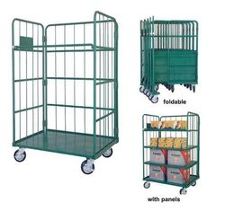 China Logistic Material Handling Galvanized Steel Trolley for Warehouse supplier