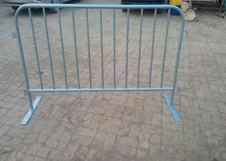 Road Safety Crowd Barrier Control Temporary Mesh Fence 25mm Round Pipe Frame