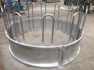 China Metal Galvanized Steel Round Bale Pasture Hay Rack Livestock Feeder supplier