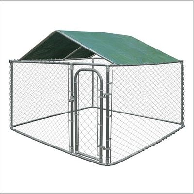 China Galvanized Heavy Duty Chain Link Dog Kennels Durable 10'L*10'L*6'H Size supplier