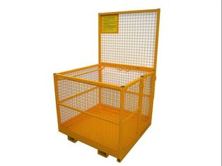 "China 45"" X 43"" Forklift Platform Mesh Storage Cage 2 Person Capacity 82'' Height supplier"