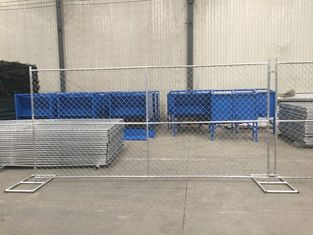 Galvanized Chain Link Temporary Fence Panels For Overseas Market