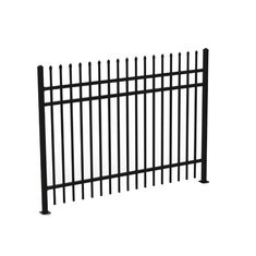 China 1.8mH 3 Rails Galvanized Wrought Iron Fence Panels , Decorative Metal Fencing supplier