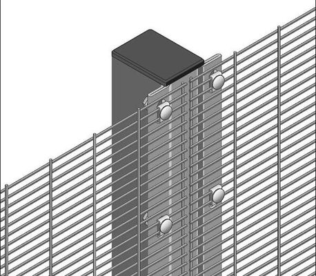 China Galvanized / Powder Coated Anti Climb Weled 358 Mesh Fence For Prison supplier