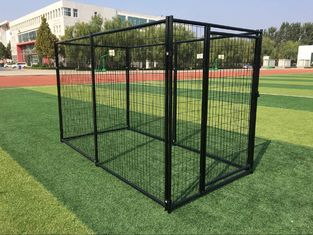 China Powder Coated Outdoor Metal Dog Kennel Welded Wire Mesh 3000mm Length supplier