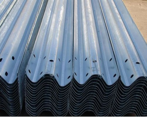 High Standard Hot Dip Galvanized Highway Guard Rail Two Wave Fence Any Color