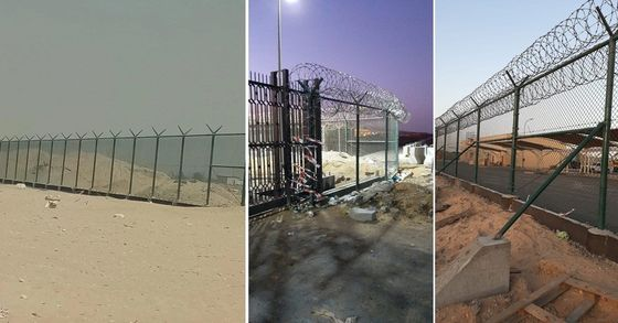 Customized Gi Chain Link Fencing For Airport And Kuwait Bidding Project