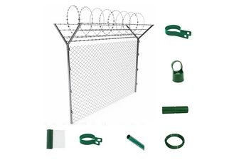 Middle East Countries Chain Link Privacy Fence Dark Green For Airport