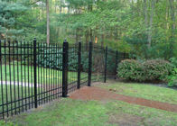 China Durable Black Iron Pool Fence , Outdoor Metal Fence Corrosion Resistance factory