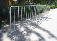 Hot Dipped Temporary Mesh Fence For Crowd Control OEM / ODM Acceptable