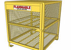 Good Quality Welded Mesh Machine & Yellow Color Gas Cylinder Cages Pad Lockable Easily Assembled / Dissembled  on sale