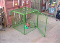 Outdoor Propane Storage Cage Green Color , Gas Bottle Cage Powder Coating