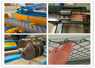 Semi Automatic Chain Link Fence Machine , Cattle Fence Machine With Compact Roll