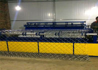 China 3-6M Width Chain Link Machine Iron Net Making Machine Black / Paint Surface factory