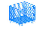 China Folding Wire Mesh Container / Small Mesh Containers Strong Structure factory