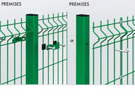 China Customized Welded Mesh Security Fencing , Green Pvc Coated Welded Wire Mesh Fencing factory