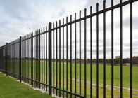 "2 Rail Steel Fence With 1"" Picket 1 ¾"" Rail Of The Fence Panel And 2 1/2"" Posts"