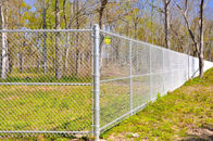 High Secure Galvanized Chain Wire Fencing Chain Link Security Fence Long Time Life