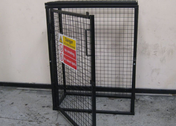 black powder coating gas cylinder cages flexible foldable easy install - Gas Cylinder Cages